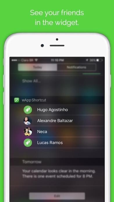wApp Shortcut Pro - Talking with your friends in 3 gestures Screenshot