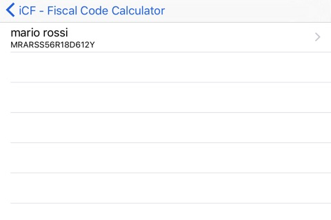 iCF - Codice Fiscale screenshot 3