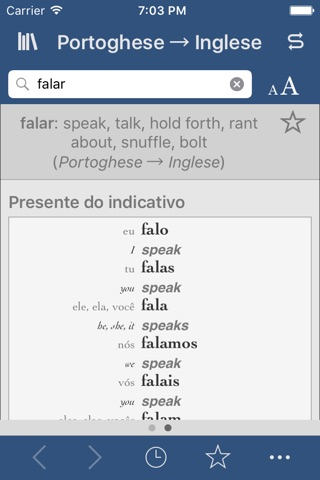 Portuguese-English Translation Dictionary and Verbs screenshot 2