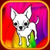Welpen Hund Malbuch Chihuahua für Kind zeigen
