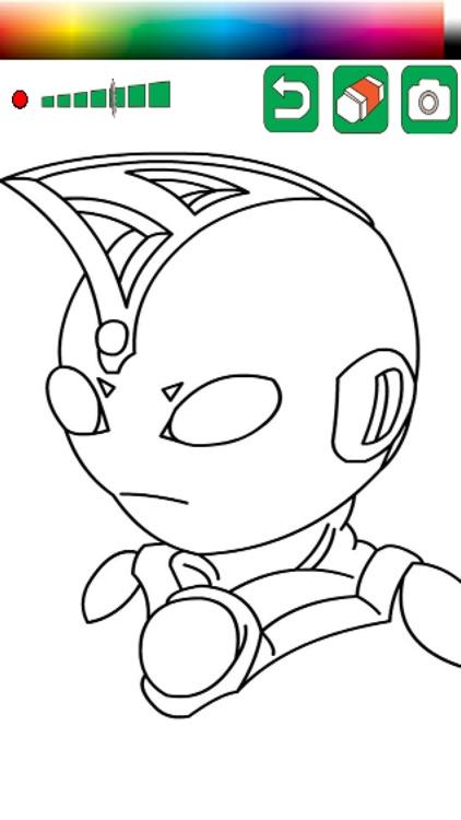 Kids Coloring Game Ultraman Mebius Version