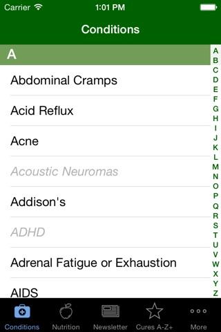Cures A-Z screenshot 1