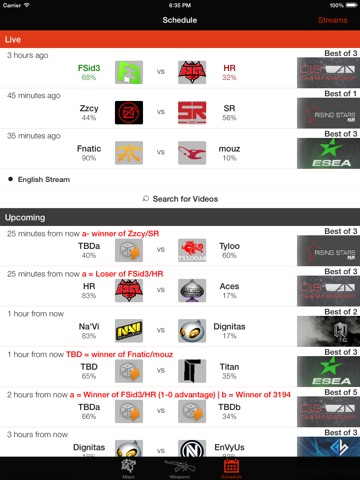 Insider for CS GO - Schedule, Maps, Weapons-ipad-0