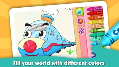 download Kids Color Book: Cars - Educational Coloring & Painting Game Design for Kids and Toddler apps 3
