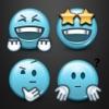 Голубой смайлик Минис Клавиатура с Emoji мира
