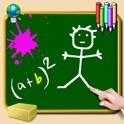 Lousa para iPhone e iPod - escrever, desenhar e tomar notas - giz colorido - papel de parede verde,