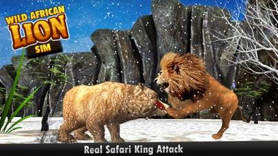 download African Wild Lion Sim 3D - réel Safari roi chasse au cerf sur les montagnes de neige en hiver apps 0