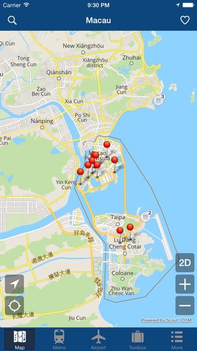 Macau Offline Map City Metro Airport On The App Store - Macau map