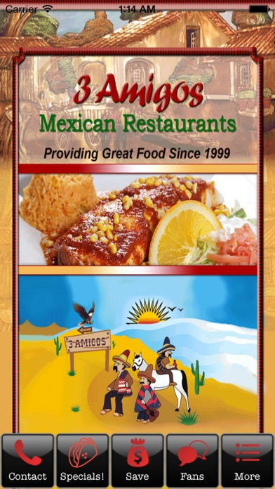 download 3 Amigos Mexican Restaurants - Yorktown apps 1