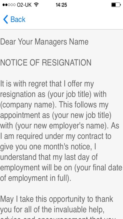 Resignation Letter Sample - Templates And Examples Of Job