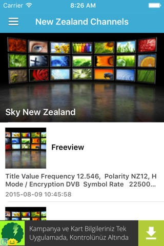 New Zealand TV Channels Sat Info screenshot 2