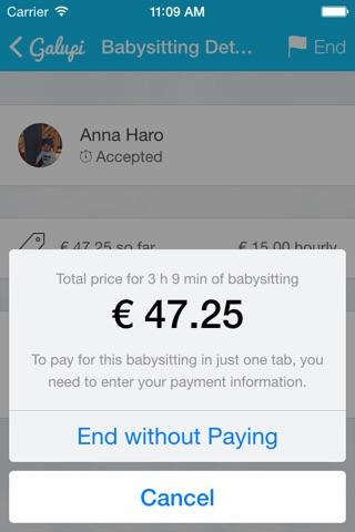 Galupi - Babysitting App screenshot 4
