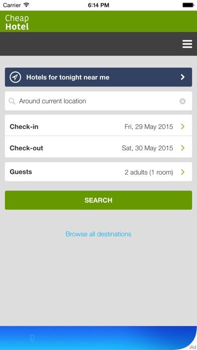 download Hôtel pas cher pour ce soir près de chez vous - Seuls les hôtels les plus économiques au prix inférieur apps 1