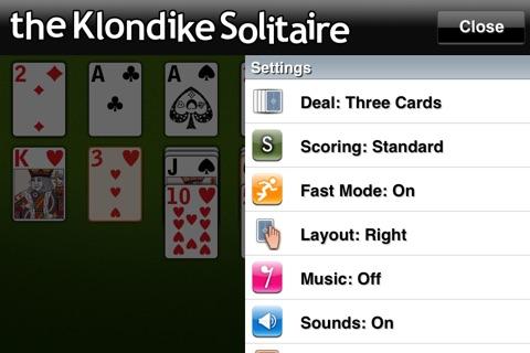 The Klondike Solitaire screenshot 4