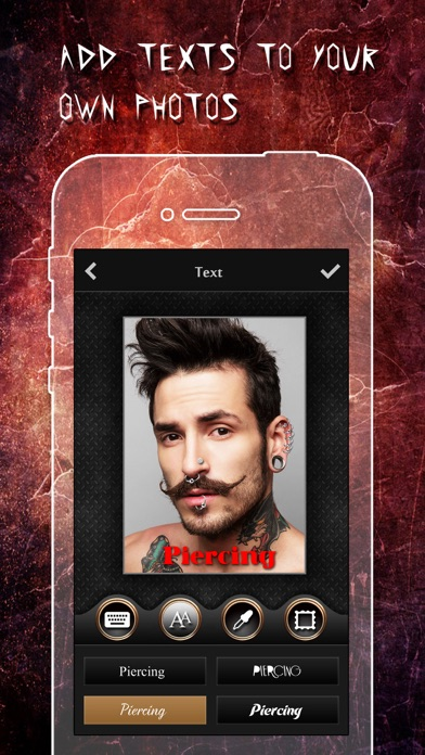 download Piercing & Tattoo Booth FREE - Add Virtual Piercings & Tattoos to make body art inked or pierced apps 4