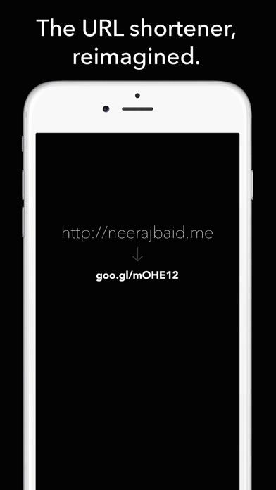 Screenshots of URL Shortener for Google's goo.gl for iPhone