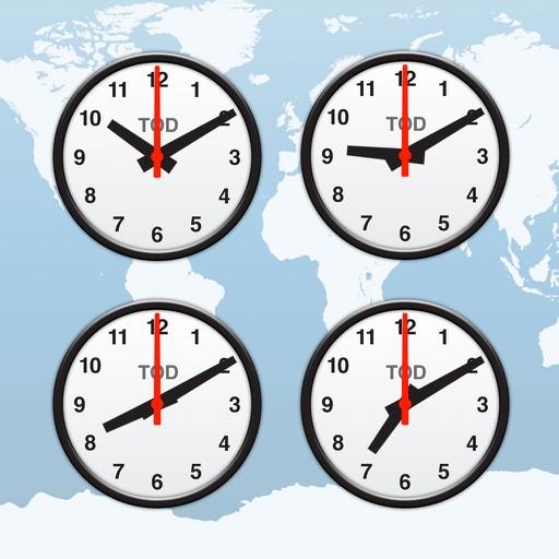 世界時計, 目覚まし時計, 時間帯 (News Clocks Lite)