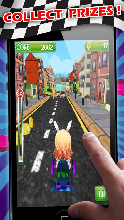 go kart bunny speed challenge pro obstacle course race game by