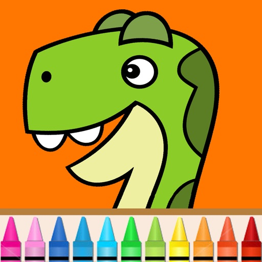 Dino coloring book for kids: 60+ entertaining and educational coloring pages. iOS App