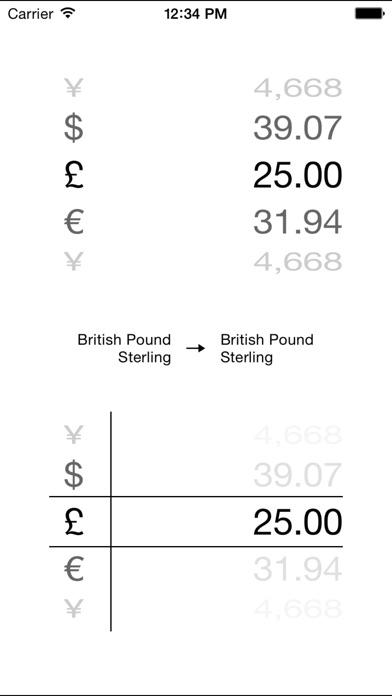 Monde Convertisseur de devises - convertisseur argent calculatrice, taux de change et en direct grille tarifaire pro (convertir Dollars, Euros, Bitcoin et beaucoup plus!)Capture d'écran de 1