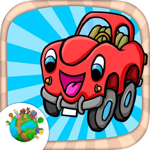 Cars, karts and trucks - fun car minigames for kids iOS App
