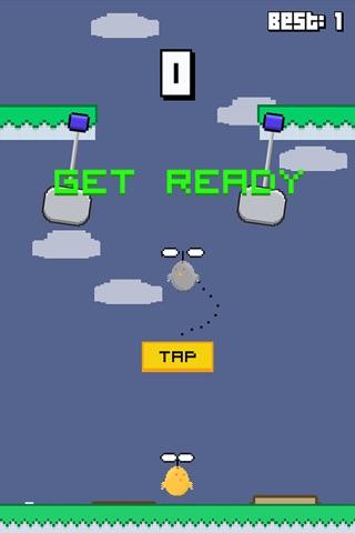 Swinging Chicken - Endless Arcade Hopper screenshot 2