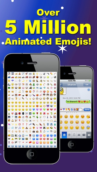 3D Animations + Emoji for MMS Text Messaging with 500,000+ Animated Emoticons for iPhone and iPad Screenshot