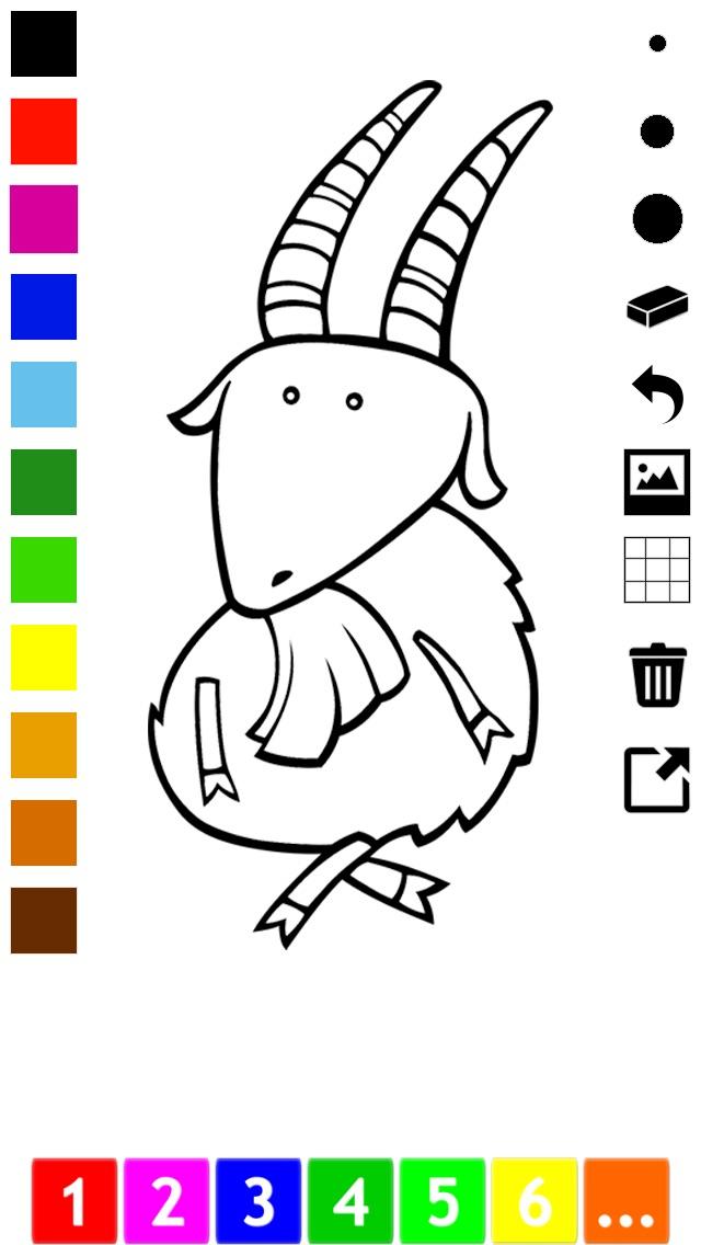 download Actif! Un Livre de Coloriage Pour Les Enfants Avec des Animaux apps 0