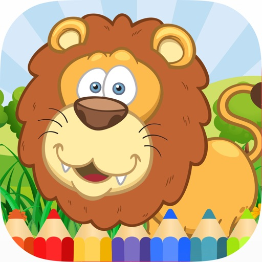 Animals Coloring Pages for Kids HD iOS App