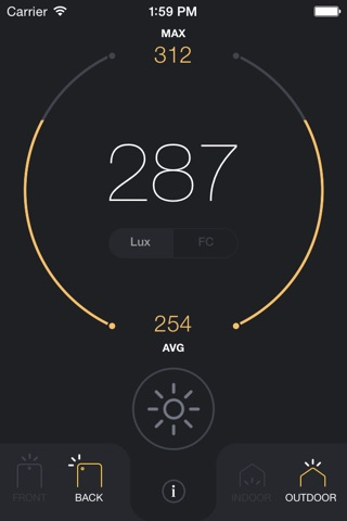 Light Meter - lux and foot candle measurement tool screenshot 3