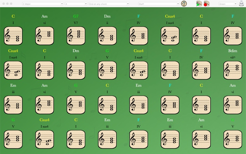 Songwriters Inspiration - Chord Generator on the Mac App Store