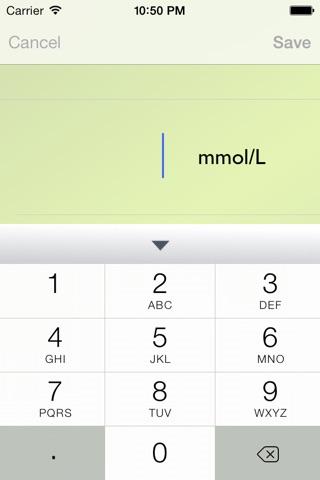 Glucose Recorder Free screenshot 2