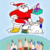 Coloring Book For Kids - Christmas and Santa Claus - Xmas tree