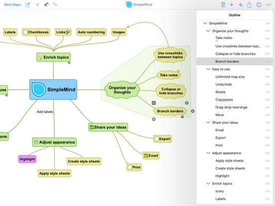 SimpleMind+ Mappe Mentali Screenshot