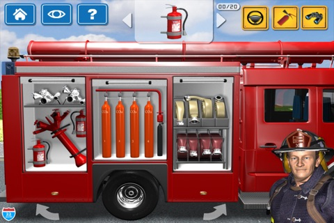 Kids Vehicles Fire Truck games screenshot 2