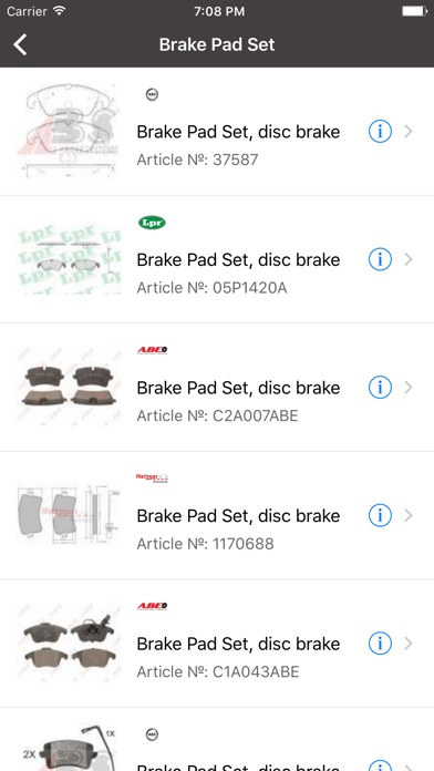Car parts for Audi - ETK, OEM, Articles app