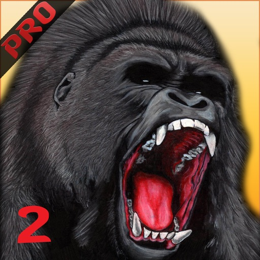 Angry silverback gorilla drawing