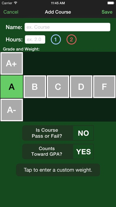 Fourpoint a gpa calculator on the app store iphone screenshot 5 ccuart Choice Image