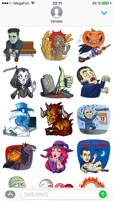 Halloween стикеры наклейки для iMessage сообщенийСкриншоты 1