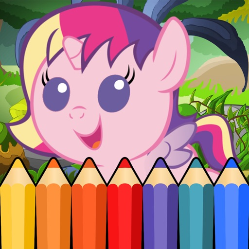 PONY Coloring Games for Little Toddler Girls iOS App