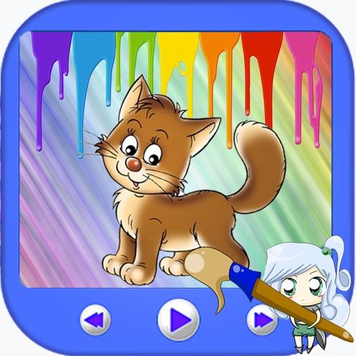 Paint Cat Kids Smart Version iOS App
