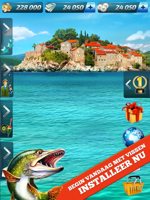 Let 39 s fish sport fishing game app voor iphone ipad en for Fishing tournament app
