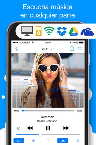 Musicloud - MP3 and FLAC Music Player for Clouds screenshot 1
