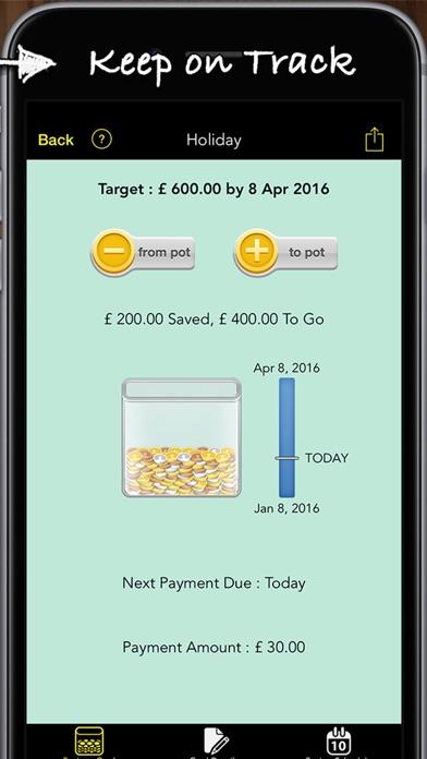 Savings Goals Pro Screenshots