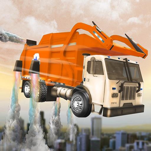 City Flying Garbage Truck Service. Dump Truck Sim. iOS App