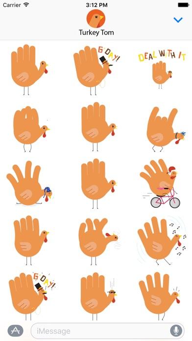 download Hand Turkey Stickers apps 0