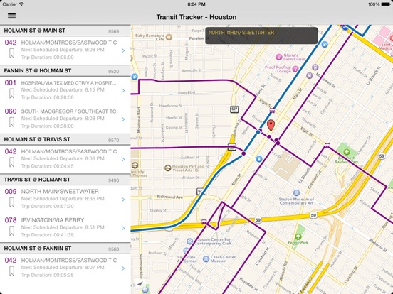 Transit Tracker Houston METRO On The App Store - Metro rail houston map