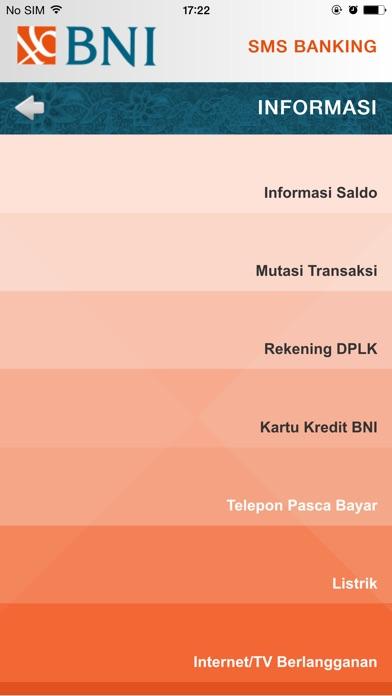 BNI SMS Banking iPhone