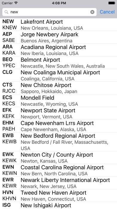Airport codes on the app store iphone screenshot 1 sciox Image collections