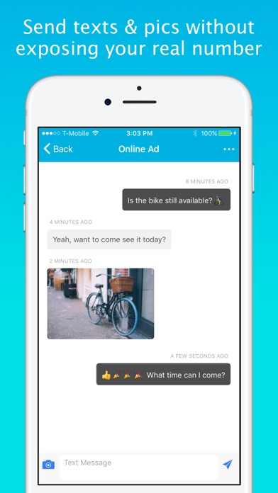 Screenshots of Smiley Private Texting - FREE anonymous sms number for iPhone